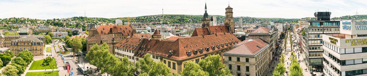 Blick über die Dächer von Stuttgart