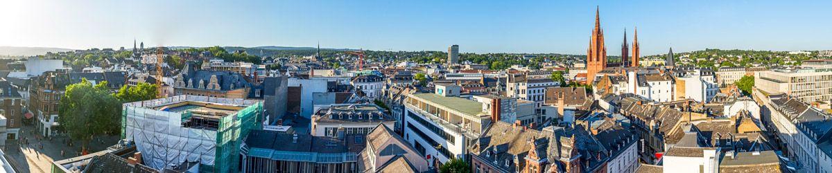 Blick über die Dächer von Wiesbaden