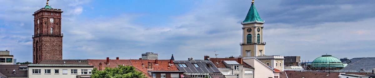Blick über die Dächer von Karlsruhe