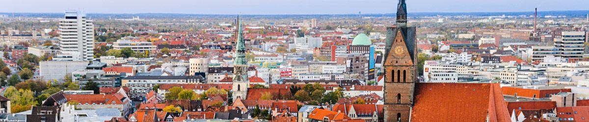 Blick über die Dächer von Hannover