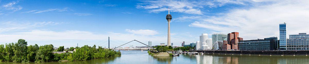 Blick über die Dächer von Düsseldorf
