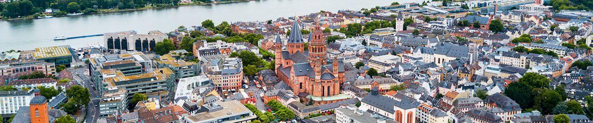 Blick über die Dächer von Mainz