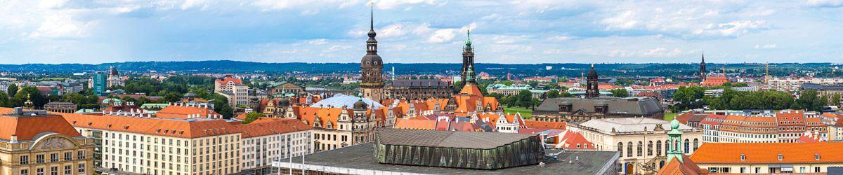 Blick über die Dächer von Dresden