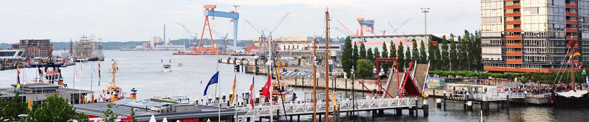 Blick über die Dächer von Kiel