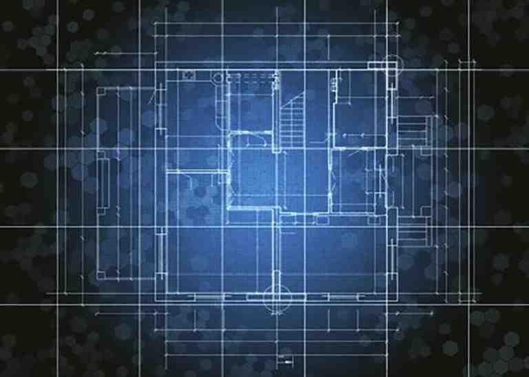 Plan im eines Objektes im Röntgenstil Hintergrund dunkel Linien Hell
