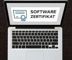 Softwarezertifikat - Die fortgeschrittene elektronische Signatur mit einem personalisierten Software Signaturschlüssel.