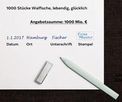 Angebot mit Unterschrift und Stempel stellt eine elektronische Signatur in Textform dar