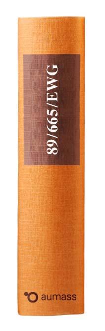 Buchrücken oranges Gesetzbuch der EU Rechtsmittelrichtlinie 89/665/EWG
