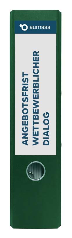 Grüner Ordner mit Angebotsfrist Wettbewerblicher Dialog
