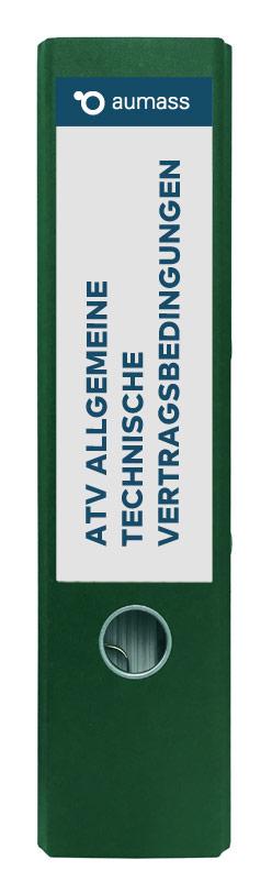 Grüner Ordner mit Allgemeine technische Vertragsbedingungen
