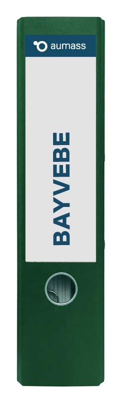 Grüner Ordner mit BayVeBe