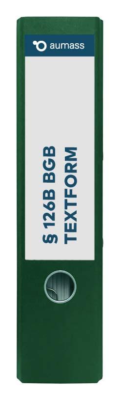 Grüner Ordner mit BGB 126 B