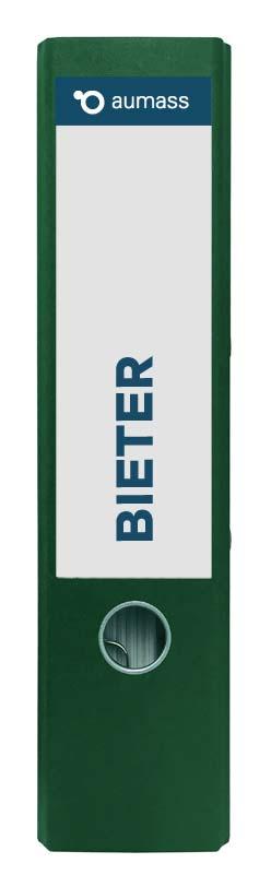 Grüner Ordner mit Bieter