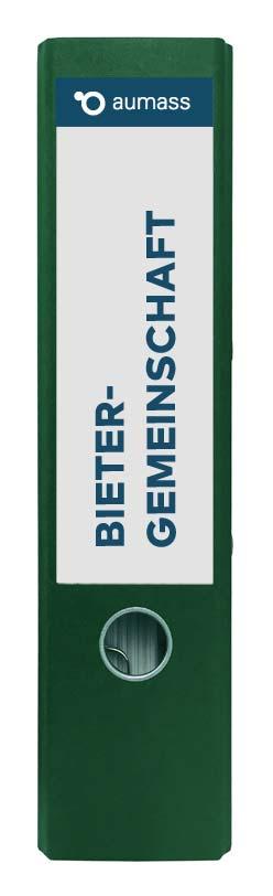Grüner Ordner mit Bietergemeinschaft