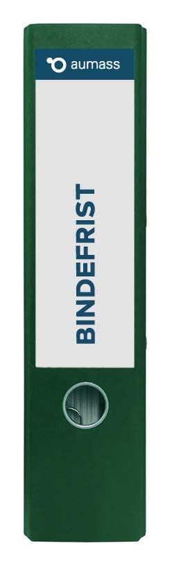 Grüner Ordner mit Bindefrist