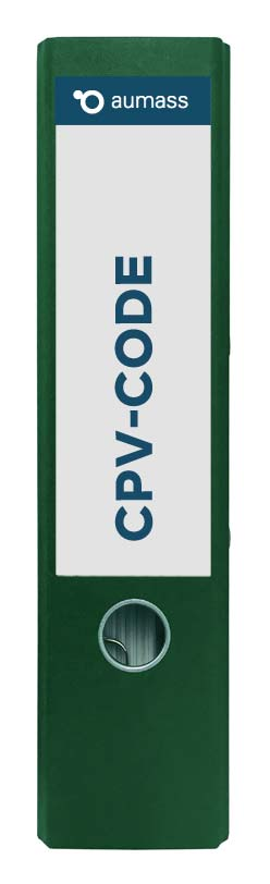 Grüner Ordner mit CPV-Code