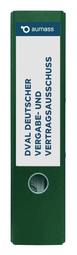 Grüner Ordner mit Deutscher Vergabe- und Vertragsausschuss