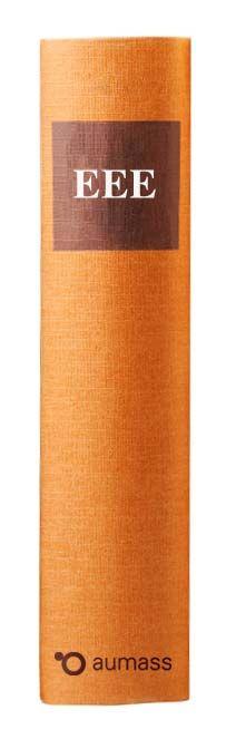 Buchrücken oranges Gesetzbuch mit einheitlicher europäischer Eigenerklärung EEE
