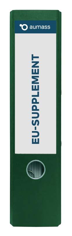 Grüner Ordner mit EU-Supplement