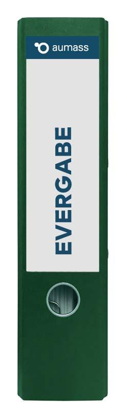 Grüner Ordner mit eVergabe