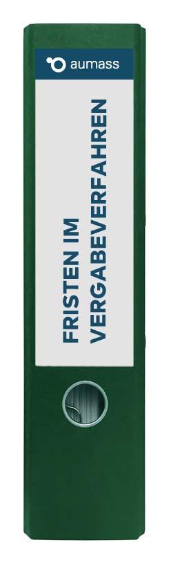 Grüner Ordner mit Fristen im Vergabeverfahren