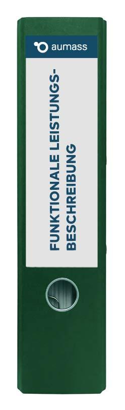 Grüner Ordner mit funktionaler Leistungsbeschreibung
