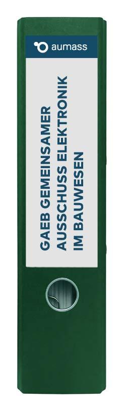 Grüner Ordner mit Gemeinsamer Ausschuss Elektronik im Bauwesen