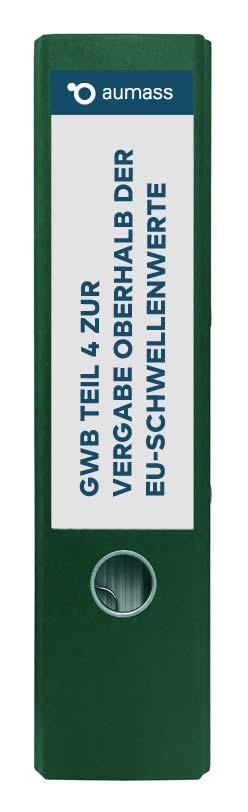 Grüner Ordner mit GWB Teil 4 zur Vergabe oberhalb der EU-Schwellenwerte