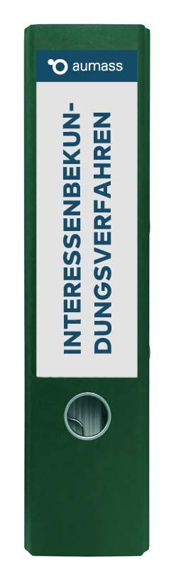 Grüner Ordner mit Interessenbekundungsverfahren