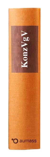 Buchrücken oranges Gesetzbuch mit Konzessionsvergabeverordnung KonzVgV