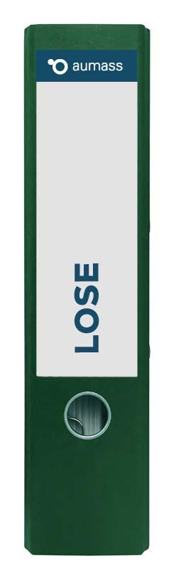 Grüner Ordner mit Lose