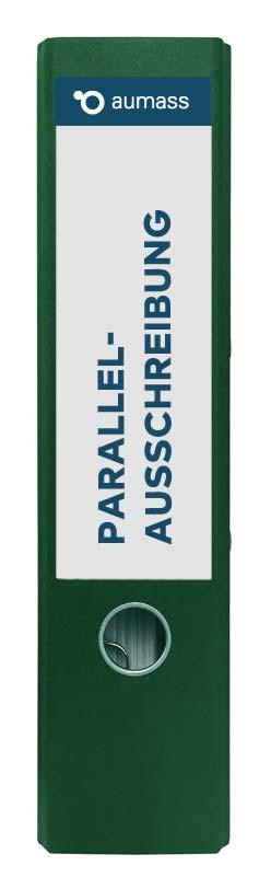 Grüner Ordner mit Parallelausschreibung