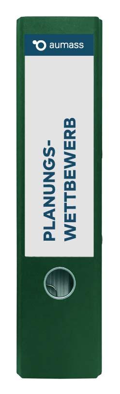 Grüner Ordner mit Planungswettbewerb