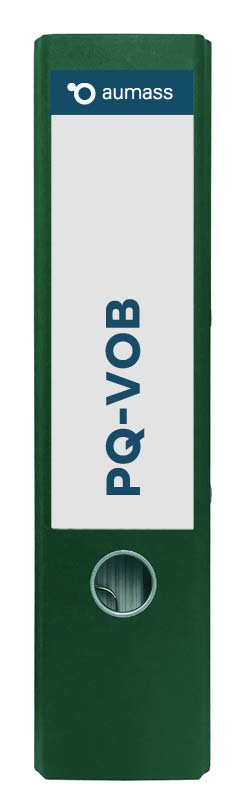 Grüner Ordner mit PQ-VOB