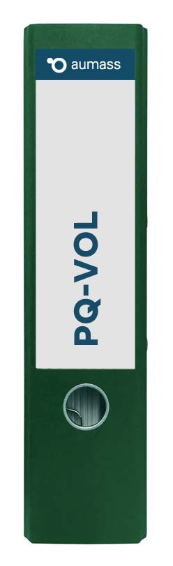 Grüner Ordner mit PQ-VOL