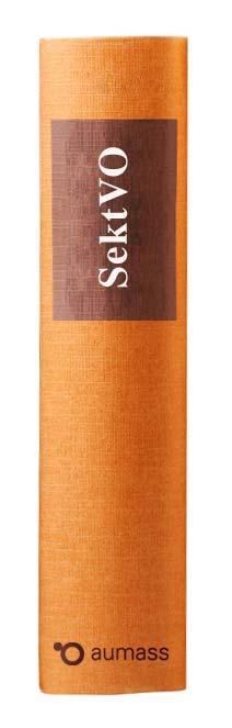 Buchrücken oranges Gesetzbuch SektVO - Sektorenverordnung