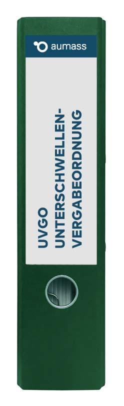 Grüner Ordner mit Unterschwellenvergabeordnung