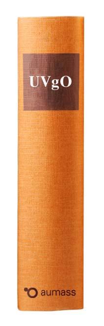 Buchrücken oranges Gesetzbuch mit Unterschwellenvergabeordnung UVgO