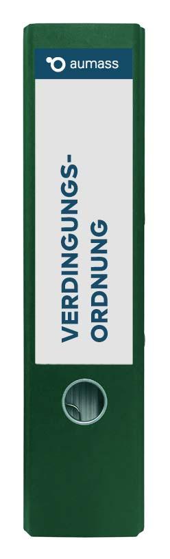 Grüner Ordner mit Verdingungsordnung