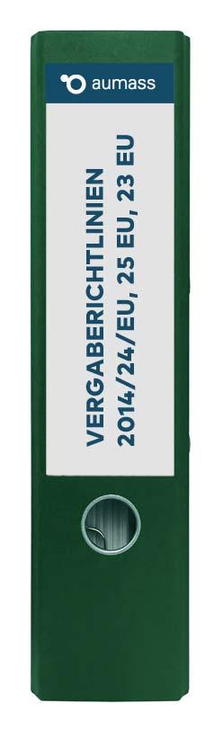 Grüner Ordner mit Vergaberichtlinien 2014 23 24 25 EU