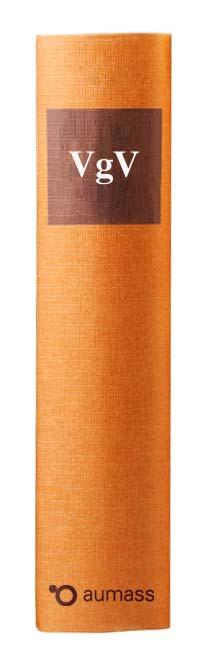 Buchrücken oranges Gesetzbuch mit Vergabeverordnung VgV