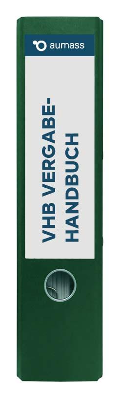 Grüner Ordner mit Vergabehandbuch