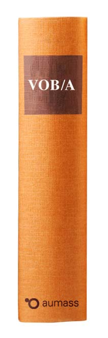 Buchrücken oranges Gesetzbuch mit Vergabeordnung für Bauleistung VOB/A