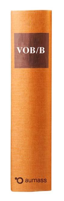 Buchrücken oranges Gesetzbuch mit Vergabeordnung für Bauleistung VOB/B