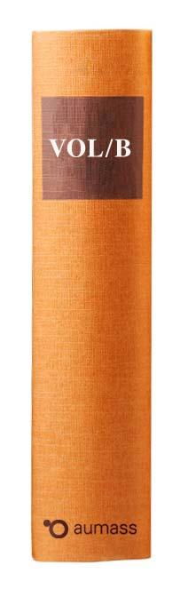 Buchrücken oranges Gesetzbuch mit Vergabeordnung für Lieferleistung VOL/B