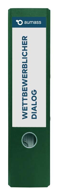 Grüner Ordner mit wettbewerblichem Dialog