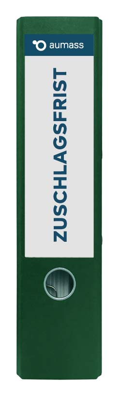 Grüner Ordner mit Zuschlagsfrist